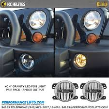led fog light kit kc hilites 2007 2009 jeep jk gravity led fog light kit amber