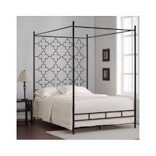 metal canopy bed high headboard black full size frame 4 post