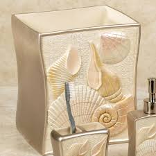 Bathroom Accessory Sets With Shower Curtain by Bathroom Seashell Bathroom Accessories Bath Ensemble Sets