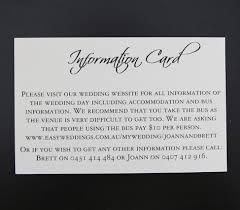 information card for square pocket wedding invitations