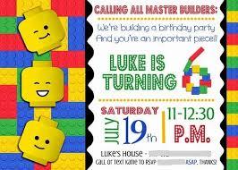 elegant lego birthday invitations which you need to make free