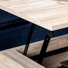cerise sandy brown wood lift top storage coffee table gwyl io