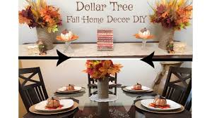dollar tree fall home decor diy tutorial youtube
