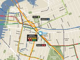 Nyc Subway Map App by Brooklyn Subway Map With Streets My Blog