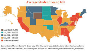 Rose State College Map by Map Where The Average Student Loan Burden Is Largest The