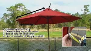 Orange Patio Umbrella by How To Measure Umbrella Replacement Measurement Tips Video