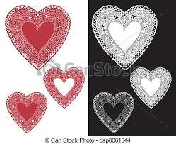 heart doilies vintage lace heart doilies vintage black and white eps