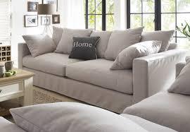 ledersofas im landhausstil hussen sofa massa beispielkombination stoff field 60 lightgrey