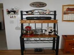 Wooden Bakers Racks Wooden Bakers Rack From Charleston Forge Loccie Better Homes