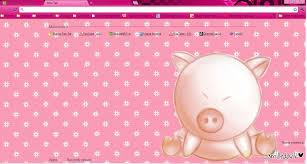 chrome themes cute cute pig theme 4 google chrome by kyoyaanime on deviantart