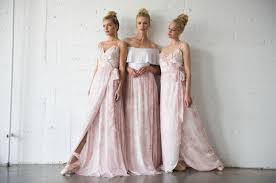 joanna august bridesmaid pretty in pink blush ballet inspired bridesmaids dresses by joanna