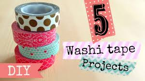 diy washi tape projects easy youtube