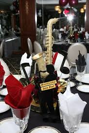 themed centerpieces jazz christmas party decor search a theme wedding