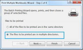 how to print multiple workbooks in excel