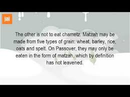 kosher for passover matzah are oats kosher for passover