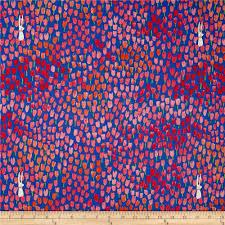 michael miller sommer tulip tangled blueberry discount designer