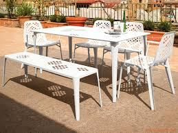 Pattern Chairs Pattern B Emu Bench Made Of Metal For Garden Stackable In