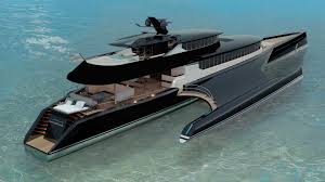 Blue Flag Yachts Blue Coast Yachts Unveils 60m Power Trimaran Yacht Harbour