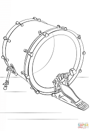 bass drum coloring page free printable coloring pages