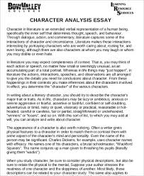 sample character analysis character traits essay docoments