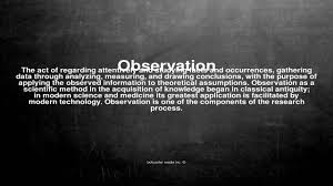 vocabulary what does observation