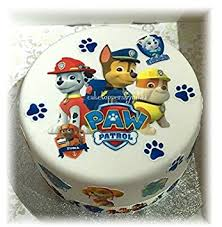 PRECUT ICING PAW PATROL Cake Decoration Set EASY PEEL & ATTACH