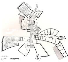 Unusual Floor Plans by Gehry U0027s Emr Communication And Technology Center First Floor Plan