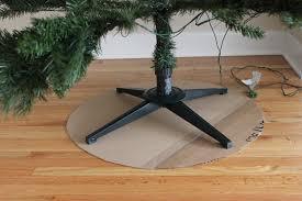 burlap christmas tree skirt easy peasy christmas tree decorating the craft