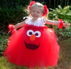 Handmade In Costume - handmade boutique elmo inspired tutu dress costume 12m
