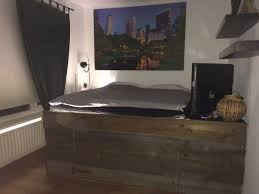 bedroom reclaimed wood platform bed ikea for rustic bedroom