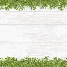 christmas tree frame on wood plank white background stock vector