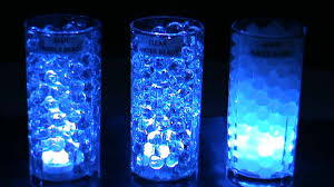 blue centerpieces 3led submersible lights blue blyss water