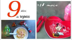 cuisine bebe 18 mois 9 idées de repas bebe 18 mois