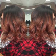 rose gold lowlights on dark hair pj s hairstyling fairfield ca united states rose gold
