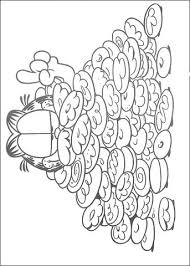 a lot of cookies for garfield coloring page free printable