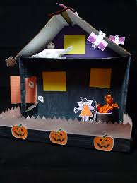 Halloween Haunted House Cake Halloween Craft Shoebox Haunted House Scribble Press Blog