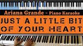 ariana grande tattooed heart lower key karaoke youtube