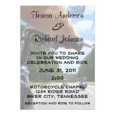 wedding invitations johnson city tn motorbike wedding invitations announcements zazzle