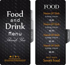 drink menu template free black restaurant menu template free vector in adobe