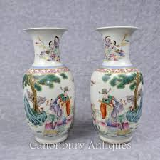 Chinese Hand Painted Porcelain Vases Chinese Pottery And Porcelain Cantonese Nanking Canonbury