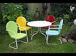 Retro Patio Furniture  Resin Wicker Patio Dining Chairs YouTube - Antique patio furniture