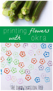 Flag Making Activity Printing Flowers With Okra The Imagination Tree