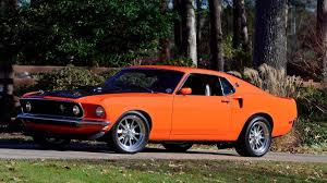 1969 mustang orange 1969 ford mustang gt resto mod f137 indy 2016