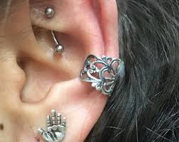 conch piercing cuff sterling silver ear cuff piercing non pierced
