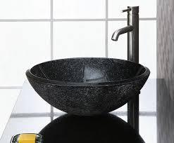 Black Vessel Sink Faucet Home U003e Sinks U003e Black Stone Vessel Sink Black Bathroom Vanity With