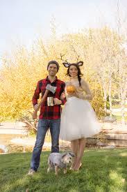 Deer Halloween Costume Women Woodland Deer Lumberjack Couples Costume