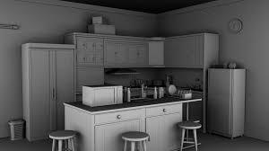 kitchen 3d model kitchen cabinets appliances 3d cgtrader