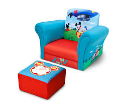 Mickey Mouse Chair Covers Amazon Com Delta Children Upholstered Chair With Ottoman Disney