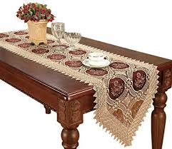 48 inch table runner amazon com simhomsen beige embroidered lace table runners and