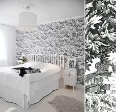 chambre avec papier peint papier peint haut de gamme déco blogdéco com